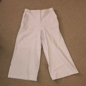 Ann Taylor Flared Pinstripe Pants